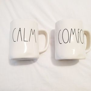 """Rae Dunn set of two """"CALM"""" and """"COMFORT"""" m…"""
